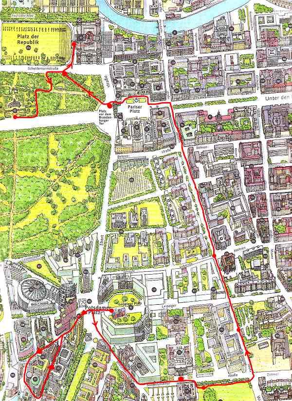 Berlin Potsdam Karte.Studienfahrt Nach Berlin Und Potsdam Rundgang Durch Berlin Karte 1